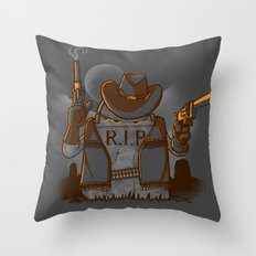 Tombstoned Throw Pillow