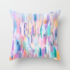 Candy Feathers  Throw Pillow