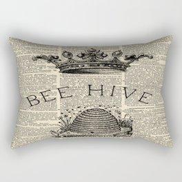 western country garden farmhouse beekeeper honey bumble bee hive Rectangular Pillow