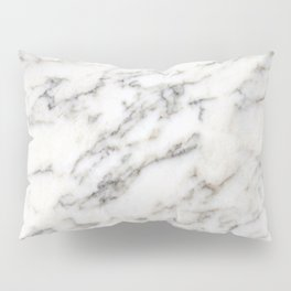 Marble: Black and Tan Veins on Chardonnay Pillow Sham