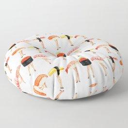 Sushi Pin-Ups Pattern Floor Pillow