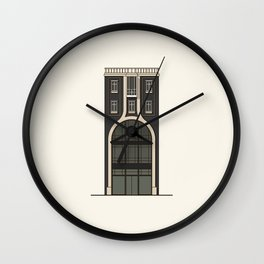 Black house with a shop Wall Clock
