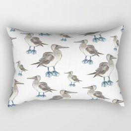 blue foot bobbie pattern Rectangular Pillow