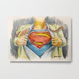 Superman - Fictional Superhero Metal Print