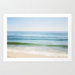 Ocean Seascape Photography, Blue Sea Landscape, Beach Waves Coastal, Seashore Horizon Art Print