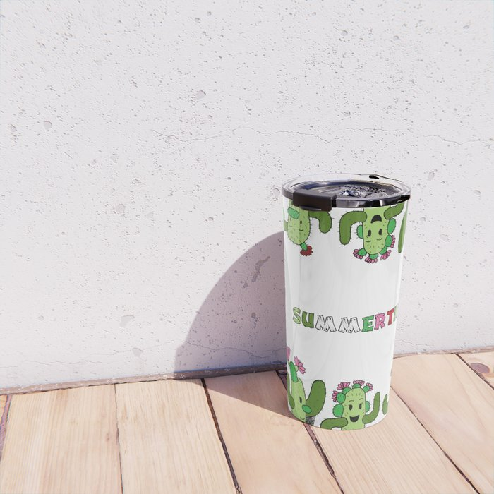 Cactus Family (colour version) Travel Mug