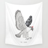 hawk Wall Tapestries featuring hawk by talltree