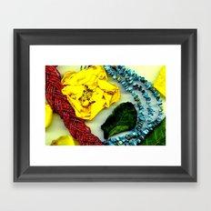 Petals and Necklace  Framed Art Print