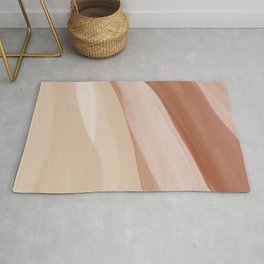 Abstract Watercolor Desert Rug
