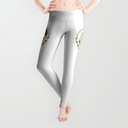 Coat of Arms & Seal of Mexico on white background Leggings