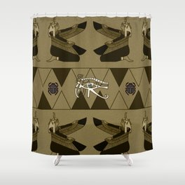 The all seeing ey with scarab Shower Curtain
