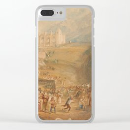 """J.M.W. Turner """"Saint Catherine's Hill, Guildford, Surrey"""" Clear iPhone Case"""