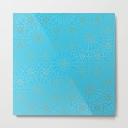 Moroccan Nights - Gold Teal Mandala Pattern - Mix & Match with Simplicity of Life Metal Print