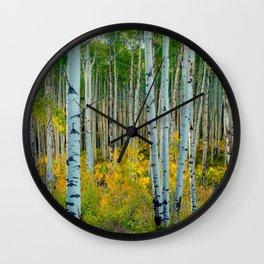 Breezy Changing Aspen Grove Wall Clock