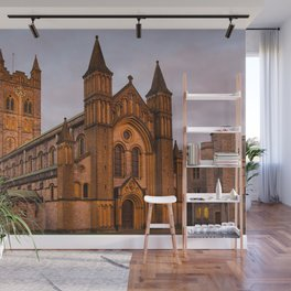 Abbey at Sunset Wall Mural