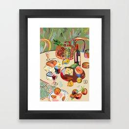 WINE BREAK Framed Art Print