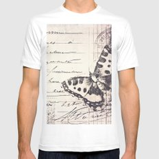 postal butterfly {b&w Mens Fitted Tee White MEDIUM