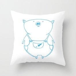 piggy 15 Throw Pillow