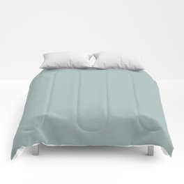 Pastel Blue Green Inspired By PPG Glidden Blue Willow PPG1145-4 Solid Color Comforters
