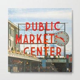 Seattle Pike Place Market Metal Print