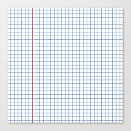 Dotted Grid Red and Blue Canvas Print