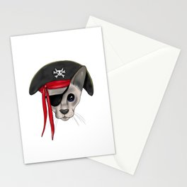 Meow Matey - Fearless Hairless Pirate Cat Stationery Cards