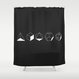 Platonic Shower Curtain