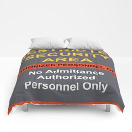Restricted Security Area Comforters
