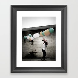 For a moment I remembered. Framed Art Print