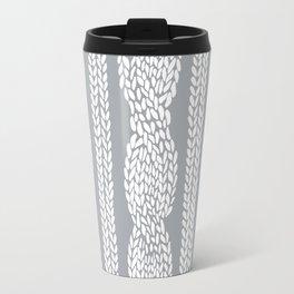 Cable Grey Travel Mug