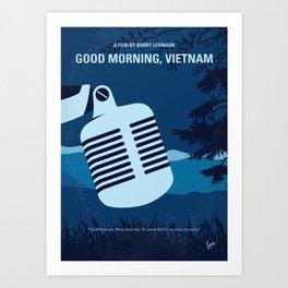 No811 My Good Morning Vietnam minimal movie poster Art Print