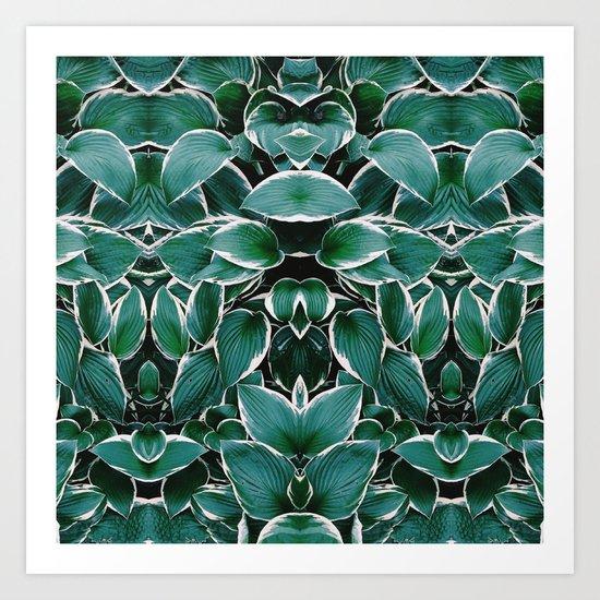 50 Shades of Green (8) Art Print