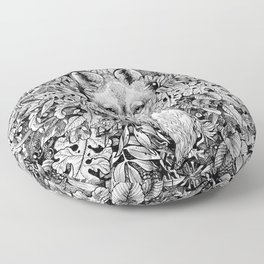 hidden fox Floor Pillow