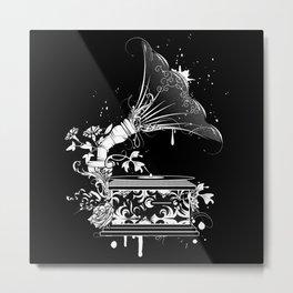 Nostalgic Gramophone Metal Print