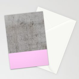 Pink on Concrete Stationery Cards