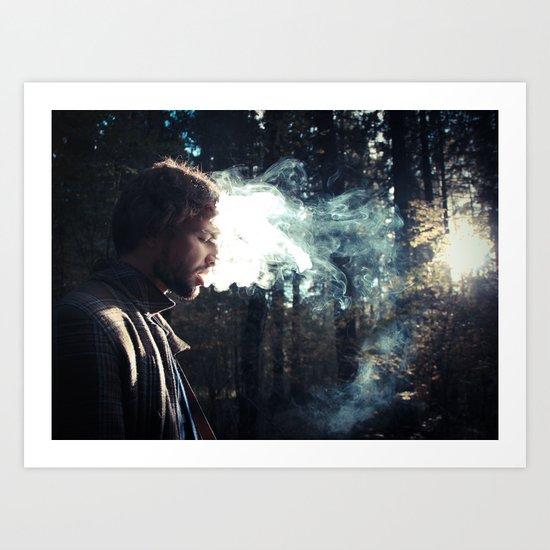 smoking guy Art Print