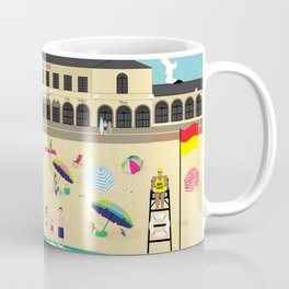 Bondi Beach Vintage Style Art Print Coffee Mug