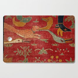 Animal Grotesques Mughal Carpet Fragment Digital Painting Cutting Board