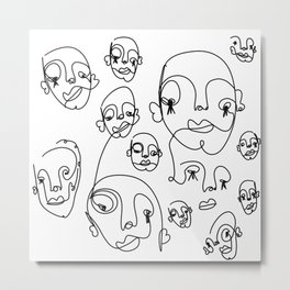notes Metal Print