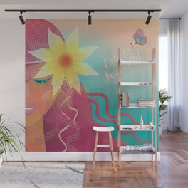 Girl with Pink Hair Wall Mural
