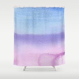 Bisexual Watercolor Wash Shower Curtain