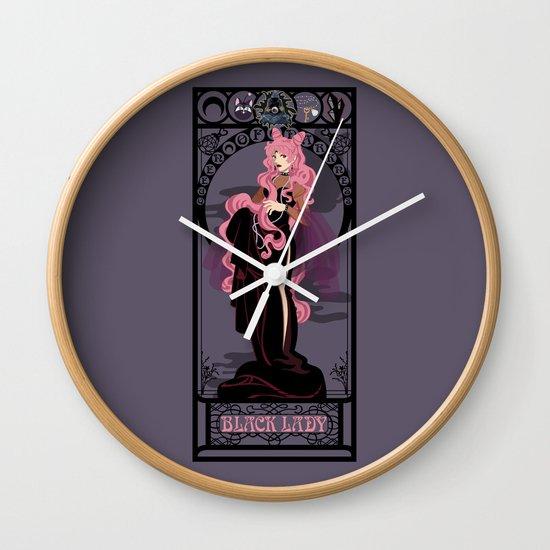 Black Lady Nouveau - Sailor Moon Wall Clock