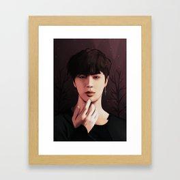 bts jin fake love fanart Framed Art Print