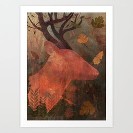 Monarch of Autumn Art Print