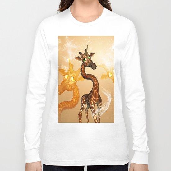 The unicorn Giraffe Long Sleeve T-shirt