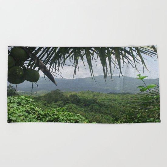 Puerto Rico Scenery Beach Towel