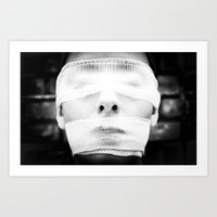 This soft nightmare is blinding and suffocating. Art Print