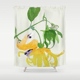 In The Garden Galaxy Shower Curtain