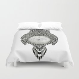 Owl and the Moon Duvet Cover