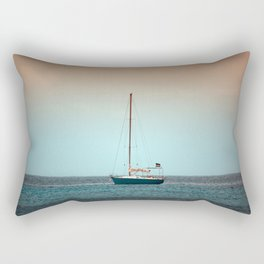 Sailing Boat in the Atlantic Ocean Rectangular Pillow